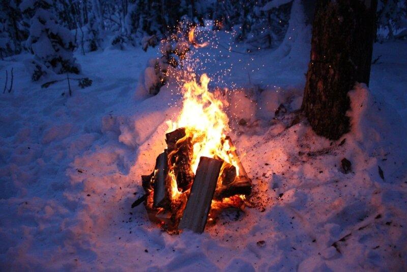 права покажите пожалуйста картинки отдыхающих зимой у костра нужно